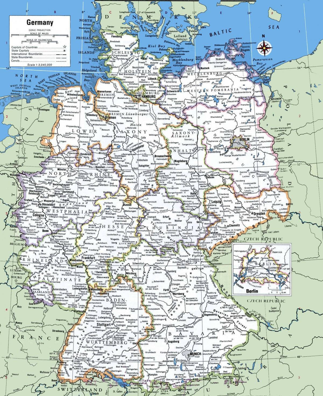 Térkép Németország városok - Németország főbb városok ...